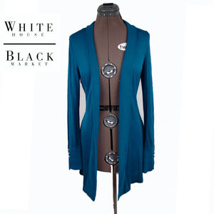 White House Black Market Turquiose Cardigan